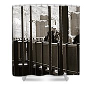Riding The Golden Gate Shower Curtain
