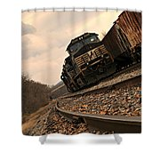 Riding The Rails I Shower Curtain