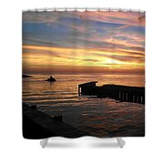 Riding The Sunset Shower Curtain