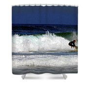 Riding The Waves At Asilomar State Beach Four Shower Curtain