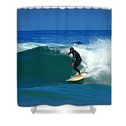 Riding The Waves At Asilomar State Beach Three Shower Curtain