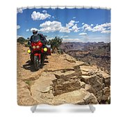 Riding The Wedge Overlook Shower Curtain