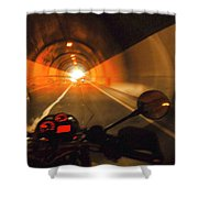 Riding Through One Of The Many Tunnels In The Italian Alps Shower Curtain