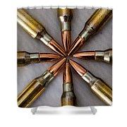 Rifle Ammuntion Shower Curtain