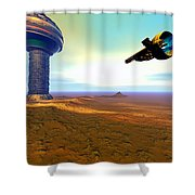 Rigel 7 Shower Curtain by Corey Ford