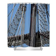 Rigging Aboard The Galeon Shower Curtain