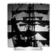 Rigging And Sail Shower Curtain