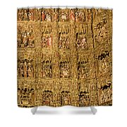Right Half - The Golden Retablo Mayor - Cathedral Of Seville - Seville Spain Shower Curtain