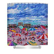 Right Panel Of Triptych Busy Relaxing Shower Curtain