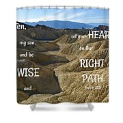 Right Path Shower Curtain