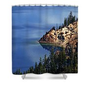 Right Side Of Crater Lake Oregon Shower Curtain