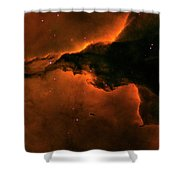 Right - Triptych - Stellar Spire In The Eagle Nebula Shower Curtain