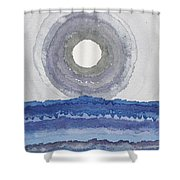 Rim Of The Moon Original Painting Shower Curtain