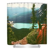 Rim-riding O'er The Canadian Rockies Shower Curtain