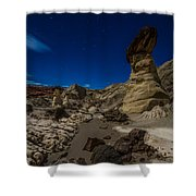 Rim Rock Toadstools Grand Staircase National Monument  Shower Curtain