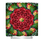 Ring Around The Roses Shower Curtain