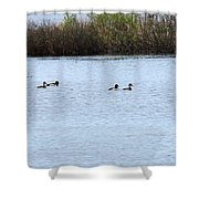 Ring Neck Shower Curtain