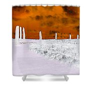 Ring Of Brodgar, Orkney Shower Curtain