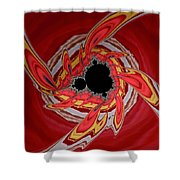 Ring Of Feathers - Abstract Shower Curtain