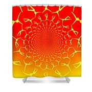 Ring Of Fire Dancers Shower Curtain