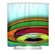Rings # 3 Shower Curtain