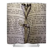 Rings From The Heart Shower Curtain