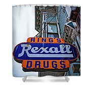 Ring's Rexall Drugs  Shower Curtain
