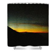 Rinjani Sunset Shower Curtain