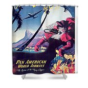 Rio, Brazil, Pan American Airways, Dancing Woman Shower Curtain