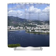 Rio De Janiero Aerial Shower Curtain