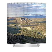 Rio Grand Near White Rock Shower Curtain