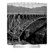 Rio Grande Bridge In New Mexico Shower Curtain