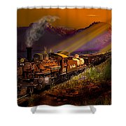 Rio Grande Early Morning Gold Shower Curtain