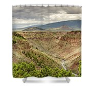 Rio Grande Gorge At Wild Rivers Recreation Area Shower Curtain