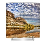 Rio Grande River Oil Painting Shower Curtain