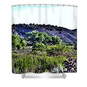 Rio Grande River Valley Shower Curtain