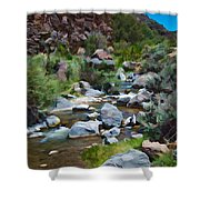 Rio Hondo Arroyo  Shower Curtain