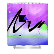 Riocentric Shower Curtain