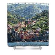 Riomaggiore 0576 Crop Shower Curtain