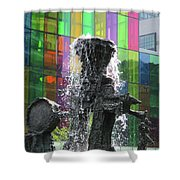 Riopelle Square 2 Shower Curtain