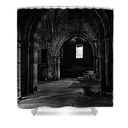 Rioseco Abandoned Abbey Naves Bw Shower Curtain