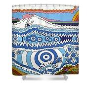 Rip Tide Shower Curtain by Rojax Art