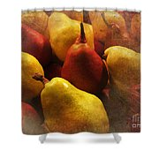 Ripe Pears And Two Persimmons Shower Curtain