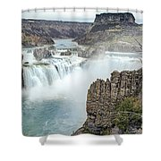 Ripping Shoshone Falls Shower Curtain