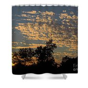Ripple Clouds At Sunset Shower Curtain