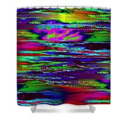 Ripple Sunset Shower Curtain