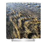 Rippled Gold Shower Curtain
