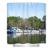Ripples And Lines Shower Curtain