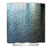 Ripples And Reflections Abstract Shower Curtain