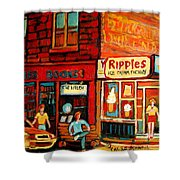 Ripples Ice Cream Factory Shower Curtain